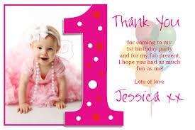 1st birthday thank you cards with photo alanarasbach com