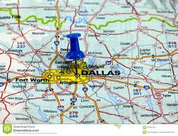 Dallas Map by Road Sign With The Direction To Dallas Stock Photo Image 55388806