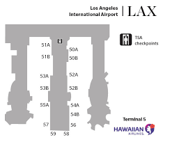 lax gate map hawaiian airlines airport locations