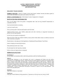 cover letter truck driving job description long haul truck driving
