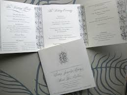 Wedding Programs Trifold Alexa Pulitzer Custom Collections