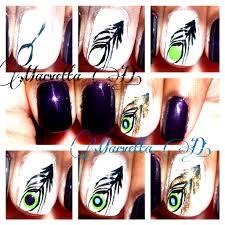 peacock feather nail art tutorial nails nailart marvetta d u0027s