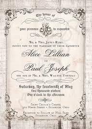 Plain Wedding Invitations Printable 5x7 Wedding Invitation Antique Calligraphy Wood