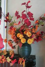Flower Arrangement Techniques by Decorating The House For Fall With Easy To Make Silk Flower