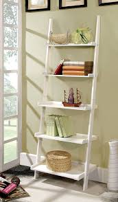 Leaning Ladder Bookcases by Amazon Com Furniture Of America Klaudalie 5 Tier Ladder Style