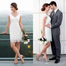 discount short casual beach wedding dresses 2017 casual beach