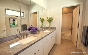 Bathroom Frameless Mirrors Contemporary Full Bathroom With Frameless Mirror By Sh Interiors