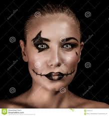 halloween background portrait terrifying witch portrait stock photo image 44947213