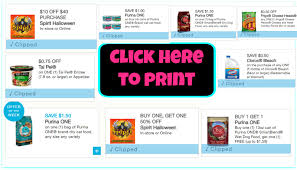 spirit halloween coupon printable new printable coupons spirit halloween clorox purina one and