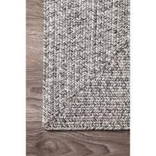 nuloom handmade casual solid braided runner grey rug 2 u00276 x 12