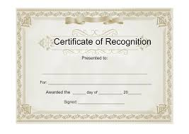 appreciation award letter sample certificates download free business letter templates and forms sample certificate of recognition free download template