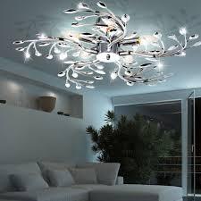 chrom design deckenleuchte flash mit strahlendem licht und chrom design len