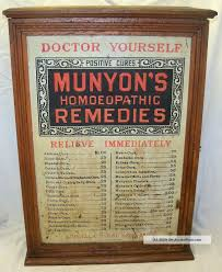 Home Decorators Collection Store by Old Antique Munyons Remedies Medicine Oak Country Store Display