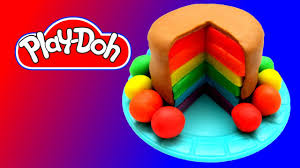 how to make play doh rainbow cake youtube