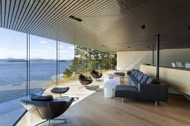 Modern House Living Room House On The Ocean S Shore In Canada