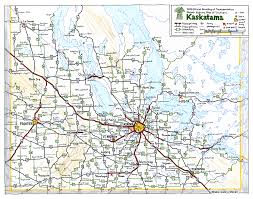 Canada Provinces Map Kaskatama Fictional Canadian Province Road Map By Schreibstang