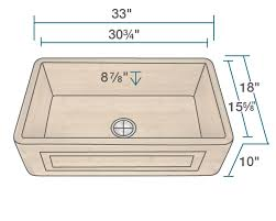 what size sink for 33 base cabinet 895 single bowl bamboo apron sink