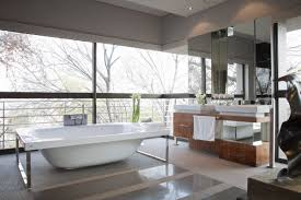 Tub Glass Doors Frameless by Luxury Master Bathroom Shower White Vessel Bath Sink Square Shape