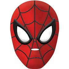 spiderman mask vacuum formed plastic 1 piece upper sturt