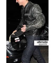 black motorcycle jacket mens tom cruise distressed black motorcycle leather jacket