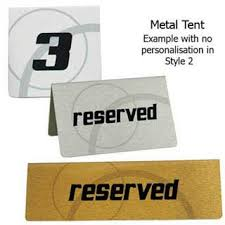 metal reserved table signs table accessories table signs table mats wine coolers