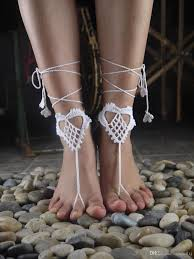 wedding barefoot sandals between color crochet barefoot sandal crochet shoes sandal wedding