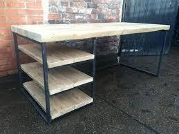bureau industriel bois et metal bureau metal et bois bureau mal unique en bureau metal bois