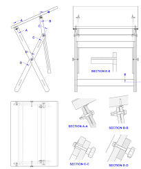 Free Wooden Table Plans by Wooden Drawing Board Project Plan