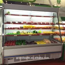 green u0026health open front cooler for fruits and vegetables glass
