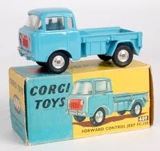 turquoise jeep lot 1752 corgi toys 409 forward control jeep light blue body