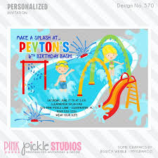 wording ideas water park birthday party all new 1