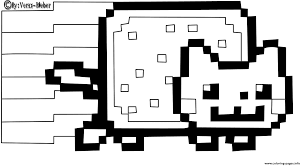 nyan cat coloring pages omeletta me