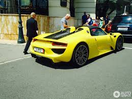 porsche spyder yellow porsche 918 spyder 5 august 2014 autogespot