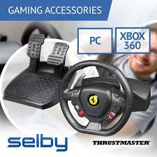 458 italia thrustmaster thrustmaster 458 italia racing simulator wheel pedals for