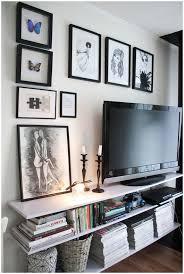 Tv Wall Shelves by Storage Under Mounted Tv Black Polished Wooden Floating Shelves