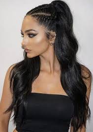 2 braids in front hair down hairstyle long natural hair best 25 half cornrows ideas on pinterest side cornrows tight