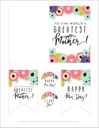 printable mother u0027s day card u0026 tags daisy cottage designs