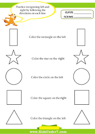 left and right worksheets fun printable activities kids under 7