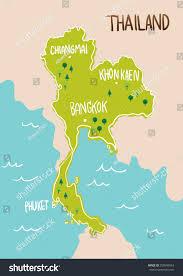 Phuket Thailand Map Thailand Map Drawing Illustration Vector Stock Vector 250999963