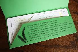 ticket wedding invitations jade citron green feather airline ticket wedding invitations