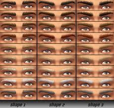mod the sims masculine eyebrows 3 shapes