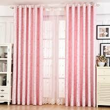 Heavy Insulated Curtains Pink Leaf Beautiful Princess Insulated Curtains For Girls Bedroom