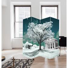 Canvas Room Divider 71 In Tree Of Life Art Canvas Room Divider Fw1503d The Home Depot