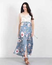 maxi skirt floral maxi skirt in blue handmade harem skirts dresses