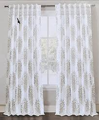 Grey Beige Curtains Envogue Medallion Window Curtains Gray Taupe Torino Damask Paisley