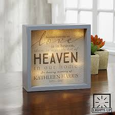 personalized remembrance gifts heaven in our home 6x6 custom led light shadow box sympathy gifts