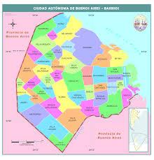 Buenos Aires Map Mapa Político De La Ciudad Autónoma De Buenos Aires Mapas