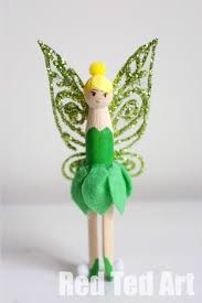 tinkerbell clothes pins dolls