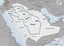 map of tabuk map of saudi arabia showing the surveyed regions riyadh qassim