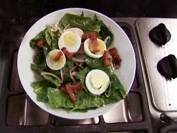 spinach salad with warm bacon dressing recipe alton brown food